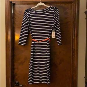 Ralph Lauren navy/white striped knit dress